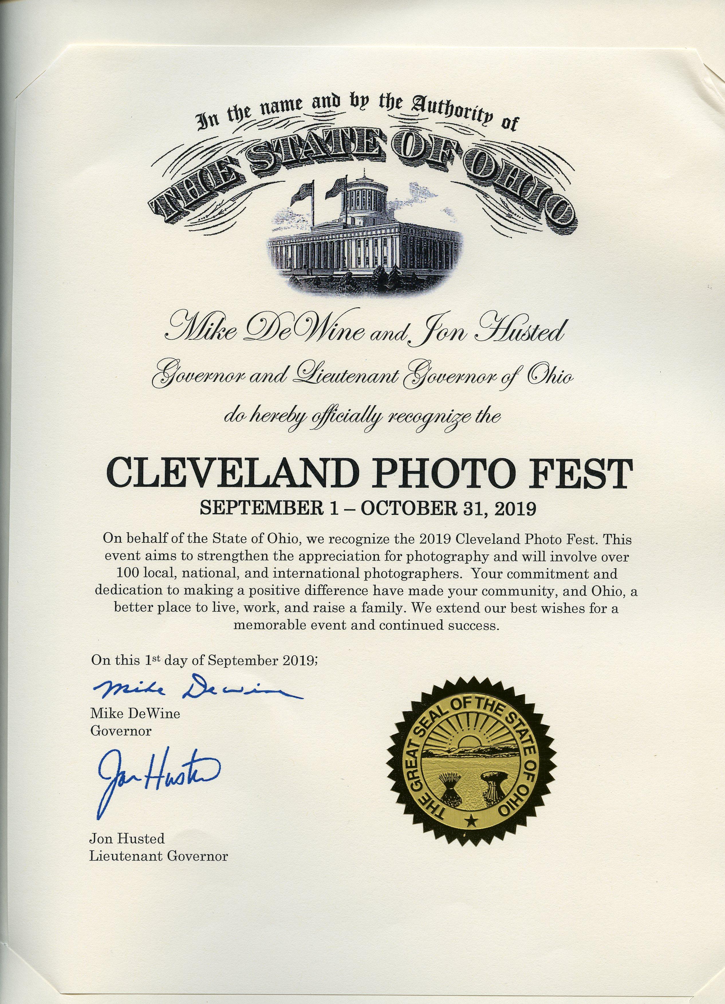 State Ohio Gov Proclamation